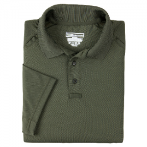 5.11 Tactical Performance Men's Short Sleeve Polo in TDU Green - Large