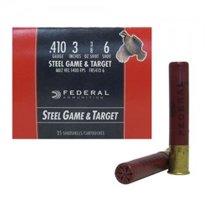 "Federal Cartridge Field & Range Steel Target, Upland Game .410 Gauge (3"") 6 Shot Steel (250-Rounds) - FRS4136"