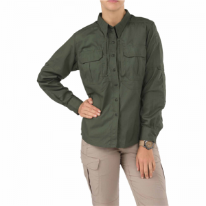 5.11 Tactical Taclite Pro Women's Long Sleeve Uniform Shirt in TDU Green - Large