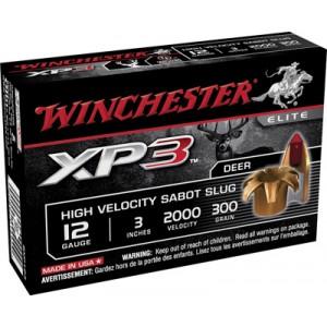 """Winchester Supreme Elite XP3 .12 Gauge (3"""") Slug (Sabot) Lead (5-Rounds) - SXP123"""
