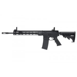 Smith & Wesson L, Black Finish, Black Collapsible Stock, Flattoprail, Flash Suppersor, Mid Length Gas System, Free Float M-lock Handguard, Flip Up Rear Sight, 30 Rounds 11600