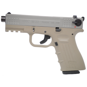"""ISSC/LSI M22SD .22 Long Rifle 10+1 4.4"""" Pistol in Desert Tan - 111013"""