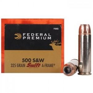 Federal Cartridge Vital-Shok .500 S&W Swift A-Frame, 325 Grain (20 Rounds) - P500SA