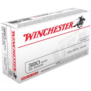 Winchester .380 ACP Full Metal Jacket, 95 Grain (50 Rounds) - Q4206