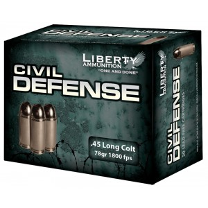 Liberty Ammunition Civil Defense .45 Long Colt Hollow Point, 78 Grain (20 Rounds) - LACD45013