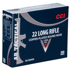 CCI Speer .22 Long Rifle Copper Plated Round Nose, 40 Grain (300 Rounds) - 956