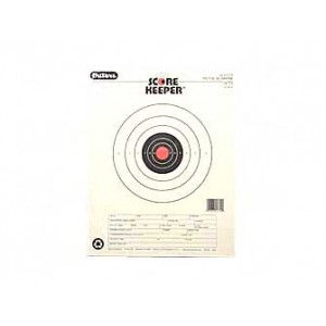 Champion Traps & Targets Orange Bullseye Scorekeeper Target, 50 Feet Pistol Slow Fire, 12 Pack 45724