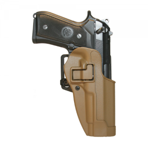 """Blackhawk CQC Serpa Left-Hand Multi Holster for Sig Sauer P220, P226, P225 in Coyote Tan (4.4"""") - 410506CT-L"""