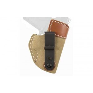 Desantis Gunhide 106 Sof-Tuk Left-Hand IWB Holster for Smith & Wesson Shield in Tan Suede Leather - 106NBI4Z0