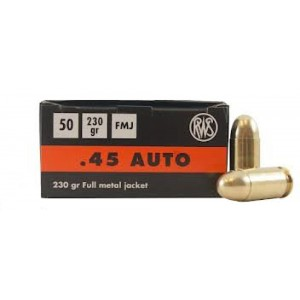 Ruag Ammotec Usa Inc .45 ACP Full Metal Jacket, 230 Grain (50 Rounds) - 2317441