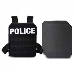 Black, Active Shooter Kit | MOLLE Plate Harness, Two 10x12  Level IV Plates, Carry/Bug Out Bag GH-ASK-2-CB
