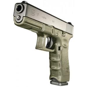 "Glock 17 9mm 17+1 4.49"" Pistol in OD Frame/Black Slide (Gen 3) - PI1757203"