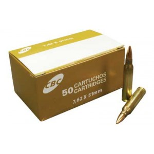 Magtech Ammunition Sport Shooting 7.62 NATO Full Metal Jacket, 147 Grain (50 Rounds) - CBC762A