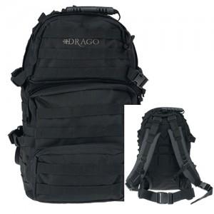Drago Gear Assault Weatherproof Backpack in Black 600D Polyester - 14302BL