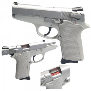 "Pre-Owned Smith & Wesson - Imported by LSY Defense 3913 9mm 8+1 3.5"" Pistol in Stainless - SW3913-BC-PO"