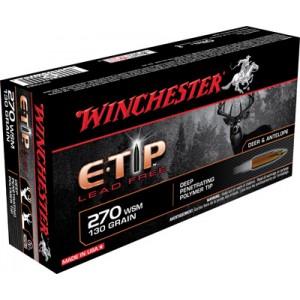 Winchester Supreme .270 Winchester Short Magnum E-Tip Lead-Free, 130 Grain (20 Rounds) - S270SET