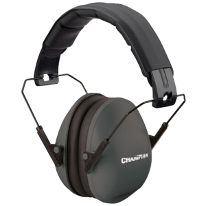 Champion Targets Slim Fit Passive Earmuffs 21nrr Black 40971
