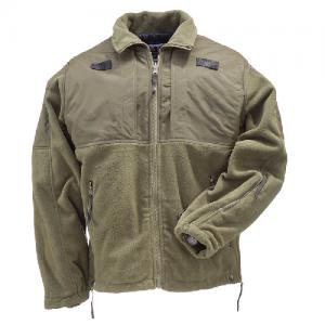 5.11 Tactical Tactical Fleece Men's Full Zip Jacket in Sheriff Green - Large