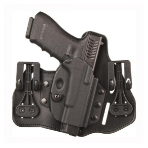 Leather Tuckable Inside Pant Holster w/Shirt Shield and Slots Gun Fit: Kahr 40 Hand: Right - 422006BK-R