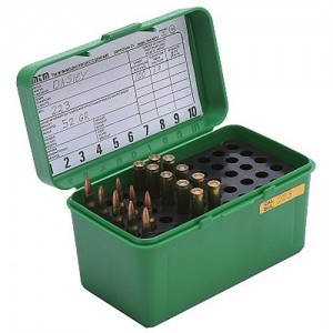 MTM 50 Round Medium Rifle Ammo Box H50RM10
