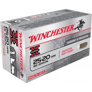 Winchester Super-X .25-20 Winchester Soft Point, 86 Grain (50 Rounds) - X25202