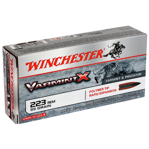 Winchester Super-X .223 Remington/5.56 NATO Varmint, 55 Grain (20 Rounds) - X223P
