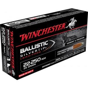 Winchester Supreme .22-250 Remington Ballistic Silvertip Lead-Free, 35 Grain (20 Rounds) - S22250RLF