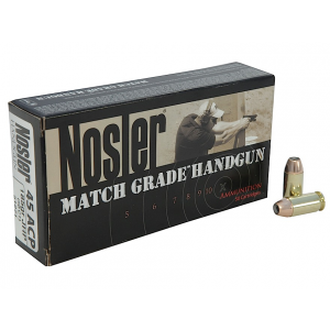 Nosler Bullets .45 ACP Jacketed Hollow Point, 230 Grain (50 Rounds) - 51284