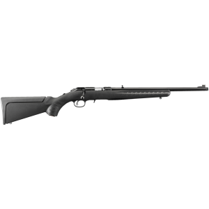 "Ruger American Rimfire Compact with Threaded Barrel .22 Long Rifle 10-Round 18"" Bolt Action Rifle in Blued - 8306"