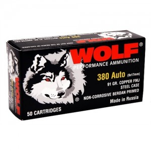 Wolf Performance Ammo 9mm Full Metal Jacket, 115 Grain (800 Rounds) - 919TINS