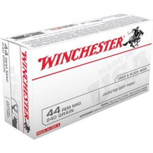 Winchester .44 Remington Magnum Jacketed Soft Point, 240 Grain (50 Rounds) - Q4240