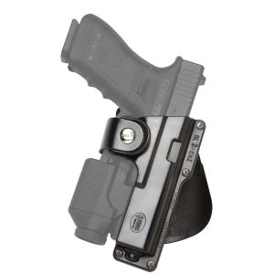 "Fobus USA Belt Right-Hand Paddle Holster for Glock 17, 22, 31 in Black (2.25"") - GLT17"
