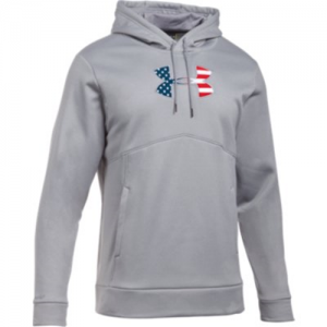 Under Armour Freedom Storm BFL Men's Pullover Hoodie in True Gray Heather - Small