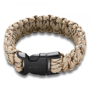Onion Para-Saw Bracelet - Tan Paracord bracelet with carbide wire saw inside (large size)  Dimensions   Open Overall Length 9.5 inches   Weight 0.9 ounces      Features   Tungsten Carbide Wire Saw Y