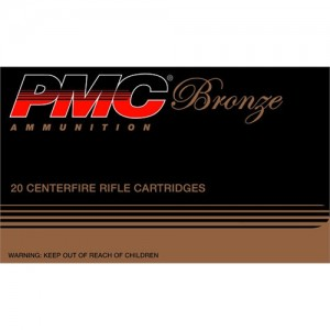 PMC Ammunition Bronze .223 Remington/5.56 NATO Full Metal Jacket Boat Tail, 55 Grain (20 Rounds) - 223A