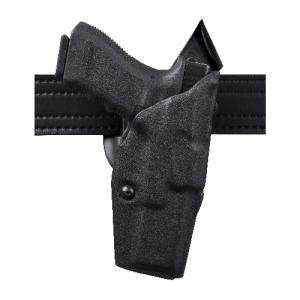 "Safariland 6390 ALS Mid-Ride Level I Retention Left-Hand Belt Holster for Beretta 92Fs in STX Black Basketweave (5"") - 6390-73-482"