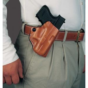 Mini Scabbard Belt Holster Color: Tan Gun Fit: S&W M&P Shield 9/40 W/ Ctc Lg-489 Hand: Right - 019TAH9Z0