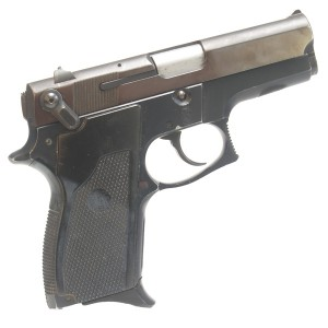 "Pre-Owned Smith & Wesson 469 9mm Luger Semi Automatic Pistol with 3.5"" Barrel, 12+1 Capacity, and Factory Rubber Wrap Grips"
