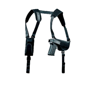 """Uncle Mike's Horizontal Right-Hand Shoulder Holster for Small/Medium Double Action Revolvers in Black (2"""" - 3"""") - 77000"""