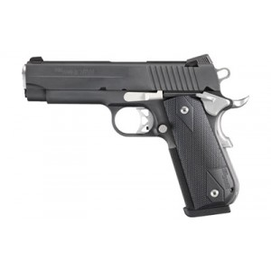 """Sig Sauer 1911 Carry Fastback Nightmare .45 ACP 8+1 4.2"""" 1911 in Black Nitron (Low Profile Night Sights) - 1911FCA45NMR"""