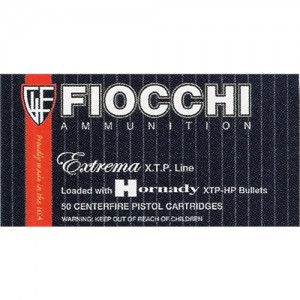 Fiocchi Ammunition .380 ACP XTP Hollow Point, 90 Grain (50 Rounds) - 380XTP