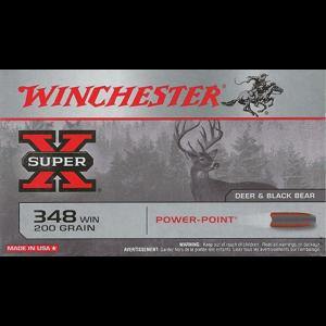 Winchester Super-X .348 Winchester Power-Point, 200 Grain (20 Rounds) - X3484
