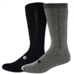 UA ColdGear Cushion Boot Sock Color: Black Size: Large