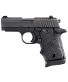 "Sig Sauer P938 Micro-Compact 9mm 6+1 3"" Pistol in Black Nitron (Hogue Rubber Finger Groove Grip) - 9389BRGAMBI"
