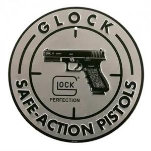 """Glock Promotional 12"""" Diameter Aluminum Sign AD00060"""
