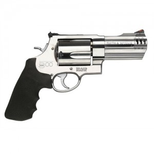 "Smith & Wesson 500 .500 S&W 5-Shot 4"" Revolver in Satin Stainless - 163504"