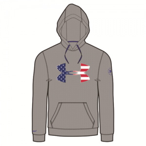 Under Armour Freedom Storm Men's Pullover Hoodie in True Gray Heather - Large