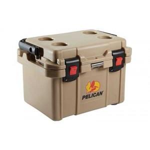 Pelican Progear 20qt-mc Elite Cooler, Holds 21.00 Us Quarts (liquid), Tan Finish 32-20q-oc-tan