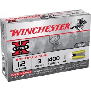 "Winchester Super-X BRI .12 Gauge (3"") Slug (Sabot) Lead (5-Rounds) - XRS123"