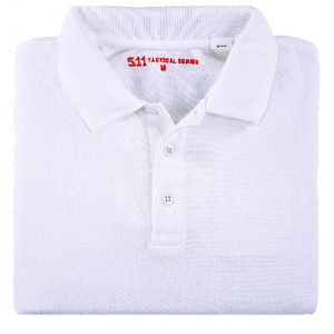 5.11 Tactical Professional Men's Short Sleeve Polo in White - Small